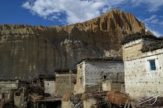 Adobe Houses of a traditional Village in the Himalayas of Nepal
