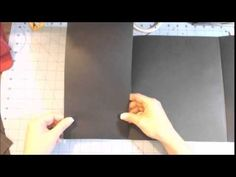 Scrapbook folder folio tutorial part 1 - YouTube; she makes a mistake on the scoring of the smaller inside pockets which she corrects later in the video when she adheres them.