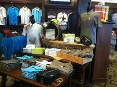 Men's Display in TPC Sawgrass Golf Shop. Photography:http://www.stanbadzphotography.com/#!/index