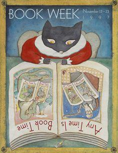 Official Children's Book Week poster, 1997, Peter Sis (B. 1949)