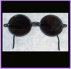 e2f95b5347 Round Vintage Black Celluloid Sunglasses 1920s - 1930s Sun Glasses  Eyeglasses Vintage Black