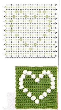 Best 12 Crochet bobble heart blanket pattern more patterns like this – Artofit patterns afghan patterns crochet patterns Crochet Bedspread Pattern, Granny Square Crochet Pattern, Crochet Blocks, Crochet Diagram, Crochet Chart, Crochet Squares, Crochet Blanket Patterns, Crochet Motif, Crochet Stitches