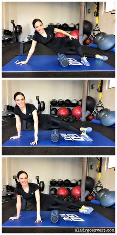 Foam rolling 101 - IT bands via A Lady Goes West http://aladygoeswest.com/2015/01/13/how-to-foam-roll-and-a-rumbleroller-giveaway/