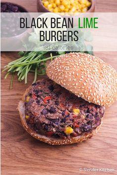 Black Bean Lime Burgers - Slender Kitchen