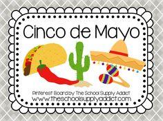Cinco de Mayo Pin Board by The School Supply Addict