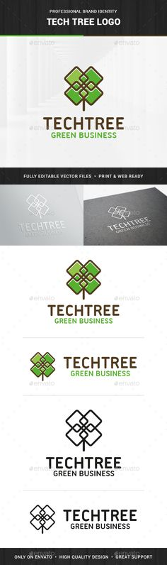 Tech Tree - Logo Design Template Vector #logotype Download it here: http://graphicriver.net/item/tech-tree-logo-template/13729663?s_rank=316?ref=nexion