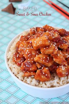 Baked Sweet & Sour Chinese Chicken