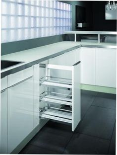 love the curved btm on the cutlery holders. hafele double draw