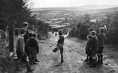 Hahnemuhle PHOTO RAG Fine Art Paper (other products available) - Young boys enjoy a game of road bowling in an Irish country lane. (Photo by Three Lions/Getty Images) - Image supplied by Fine Art Storehouse - Fine Art Print on Paper made in the UK Irish Culture, Irish Cottage, Natural World, Photographic Prints, West Virginia, Old Photos, Vintage Photos, Poster Size Prints, Photo Mugs
