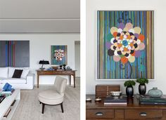 Poucas paredes, arte e o Cristo Redentor  Um 'apartamento galeria' by Dado Castello Branco