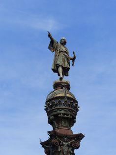 Barcelona - Christopher Kolumbus Statue Of Liberty, Places Ive Been, Barcelona, Spain, Travel, Liberty Statue, Voyage, Barcelona Spain, Viajes