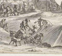 Kampement van het leger van Willem III te Lembeek, Josua de Grave, 1675 / https://www.rijksmuseum.nl/en/my/collections/117457--erika-kuijpers/soldaten-1500-1800/objecten#/RP-T-1898-A-3664,21