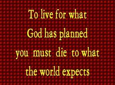 ..why do you live as if you still belonged to the world?.. Colossians 2:20 HCSB