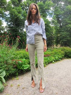 Columbine Smile / Today's outfit! Shirt from Rodebjer, pants from Acne, sandals from Zara