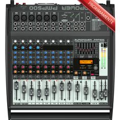 Lightweight, efficient, and powerful, the Behringer powered mixer is all you need to run your rig -- all in one place. Music Studio Room, Studio Setup, Dj Equipment, Equipment For Sale, Phantom Power, Musical Instruments, Mixer, Bluetooth, Consoles
