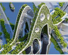 Bridge- artist conceptual view in Paris