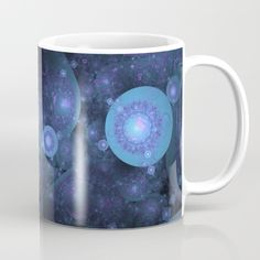"""All that we see or seem, is but a dream within a dream.""  #society6 #mystore #blue #dream #fractal #apophysis #fractalsoblue #bluecolor #colorblue #bluecolour #colourblue #mug"