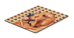 Bloodhound Fall Leaves Portrait Mouse Pad, Hot Pad or Trivet