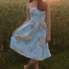 cruelcandy shared a new photo on world mapsstrapless dressfitted