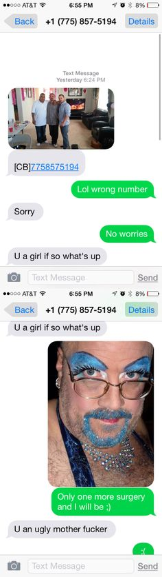 Wrong number text message fun. Smooth. Lady's man. Backfire. Fail.