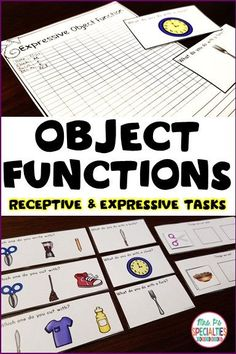 Help students understand what common objects around them are for with this set. My students are learning to identify the function of objects with 3 different tasks. These tasks pare perfect for task boxes, special education classrooms, speech therapy, life skills programs, and students with autism.