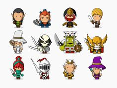 Looking for awesome fantasy characters? Our new set of 27 fantasy characters is exactly what you need and includes wizards, knights, elves, dwarves and more!