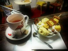 Brochette ananas pain d' épice