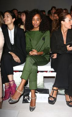 """Corinne Bailey Rae: """"a little fashion week action . Osman Front Row. Get the winking Caroline Issa ! x"""""""