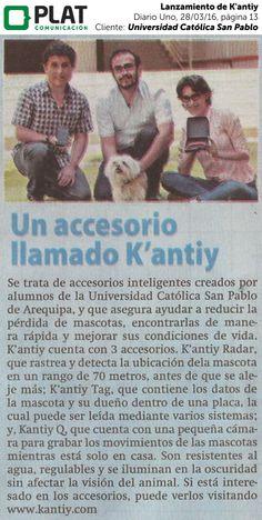 Universidad Católica San Pablo: Lanzamiento de K'antiy en Diario Uno de Perú (28/03/16)