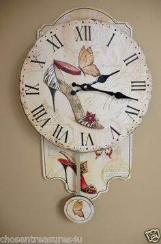 Shoe Lovers, this is one cool clock. Diva, you are beautiful! Check out our ebay store, ChosenTreasures4u for some sale items now. Most items are reduced.