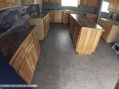 Cement Laminate Flooring in the #kitchen Photo compliments: Edward W.  #cement #laminateflooring