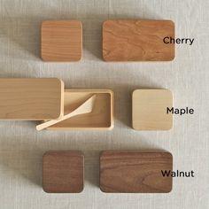 Kakudo Wood Butter Dish designed by Oji Masanori for Takahashi Kougei wood workshop