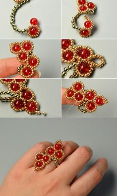 red glass beads ring, like it?More details will be published by LC.Pandahall.com soon.