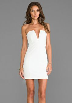 NOOKIE Rubix V Front Bustier Dress In White