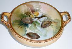 Nippon raised walnut bowl