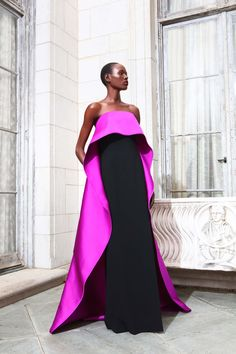 Shop Strapless Gown with Over Cape. This **Elizabeth Kennedy** cocktail dress features a strapless neckline, a column pencil dress, and a contrast overcape. Elegant Dresses, Formal Dresses, Red Gowns, Glamour, Strapless Gown, Mode Outfits, Beautiful Gowns, Classy Outfits, Couture Fashion