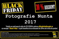 Black Friday Fotografie Nunta