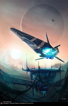 Future, spaceship, futuristic vehicle