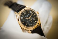 Patek Philippe [NEW] SA Complications 5205R Rose Gold Black Dial Watch (List Price: HK$359,000) - May Special:- HK$318,000.