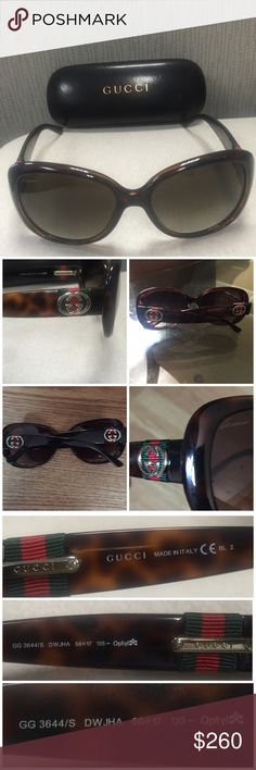 100% Authentic Beautiful Gucci Sunglasses beautiful and in Excellent condition!. no scratches. does not come with case. gold hardware. Gucci Accessories Glasses