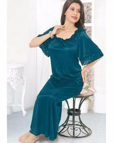 ced9ad7215 Firozi - FL-520 - Flourish Nightwear - Nighty - diKHAWA Online Shopping in  Pakistan