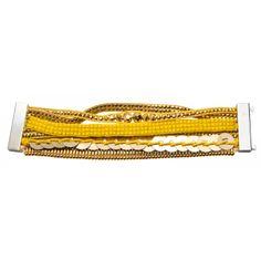 Ladies silver metal Recife gold brazilian bracelets - Franchini