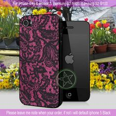 Lace Print iPhone 4/4S/5, Samsung S4/S3/S2 | sedoyoseneng - Accessories on ArtFire