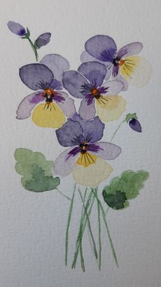 Watercolor Flowers Tutorial, Abstract Watercolor, Watercolor Illustration, Watercolor Art Lessons, Watercolor Paintings For Beginners, Arte Floral, Art Graphique, Painting & Drawing, Flower Art