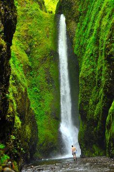 Oneonta River Waterfalls, Oregon and Washington Border