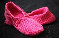 pantoufle modèle de tricot