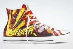 DC Comics x Converse Chuck Taylor All Star Collection 2011 Holiday - Flash Cool Ideas, Fall Shoes, Winter Shoes, Summer Shoes, Jordan Shoes, Chuck Taylors, Slip On Shoes, Wedge Shoes, Rubber Shoes For Women