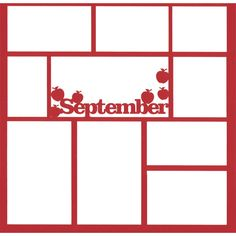 September 12 x 12 Overlay Laser Die Cut (¥355) found on Polyvore