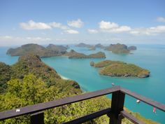 Ang Thong Marine Park viewpoint, Koh Samui, Thailand. Photo: Pat Hinsley