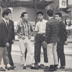 "mycultizm: "" David Marx posted this great photo on Twitter today. Shown above are some members of the Miyuki-zoku, a 1960s Japanese youth movement that revolved around Ivy Style clothes. Somewhat notable: the men are seen wearing short jackets and..."
